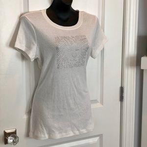 Anne Klein Lion Logo white shirt-Sparkle sparkle !
